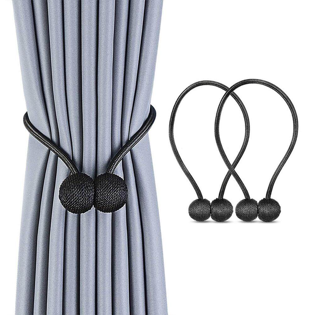 [JYA][COD][Freeshipping for Any 3 items]Curtain Accessories 2 Pcs Ball Curtain Straps Magnetism Curtain Buckle Tie Rope