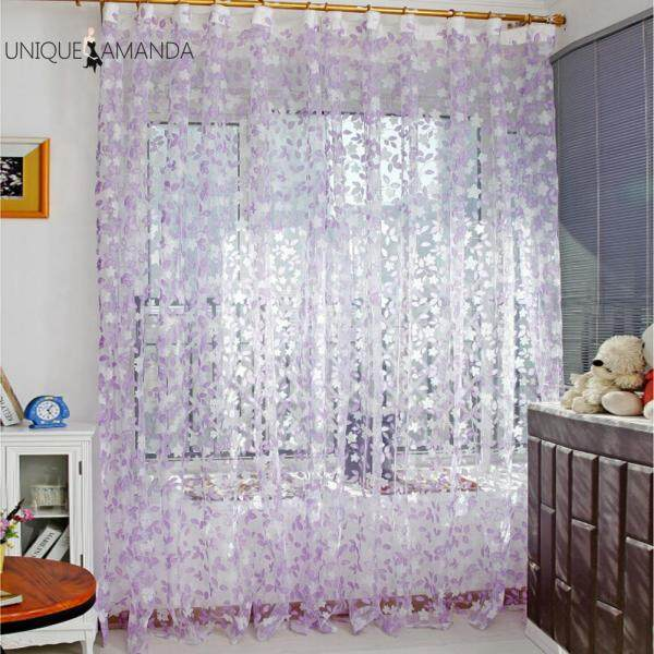 【Unique】rèm Cửa Sổ Bằng Vải Tuyn Kiểu Lá Sang Trọng Rèm Thiết Kế Hình Lá Nông Thôn