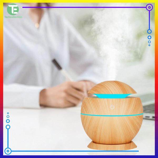 Wood Grain Air Humidifier Air Purifier Essential Oil Diffuser with Colorful Light Home Appliances Singapore