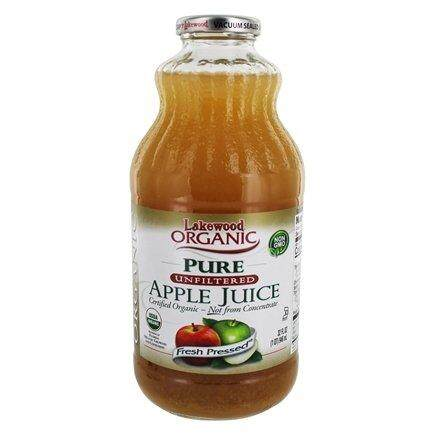 Lakewood Organic Pure Apple Juice 32oz (946ml)