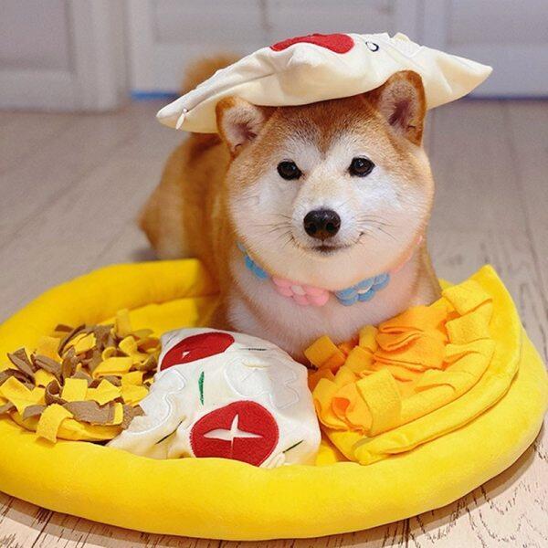 Thảm Đánh Hơi Cho Chó Cưng Chăn Huấn Luyện Chó Mèo Thảm Ôm Thức Ăn Ẩn Hình Pizza Cho Thú Cưng, Pet Snack Ăn Mat, Vật Nuôi Mũi Pad