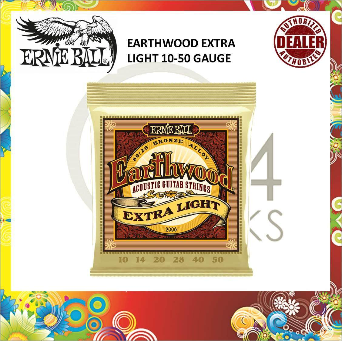 Ernie Ball 2006 Earthwood Extra Light 80/20 Bronze Acoustic Guitar Strings 10-50 Gauge / Ernieball 2006 By 724 Rocks.