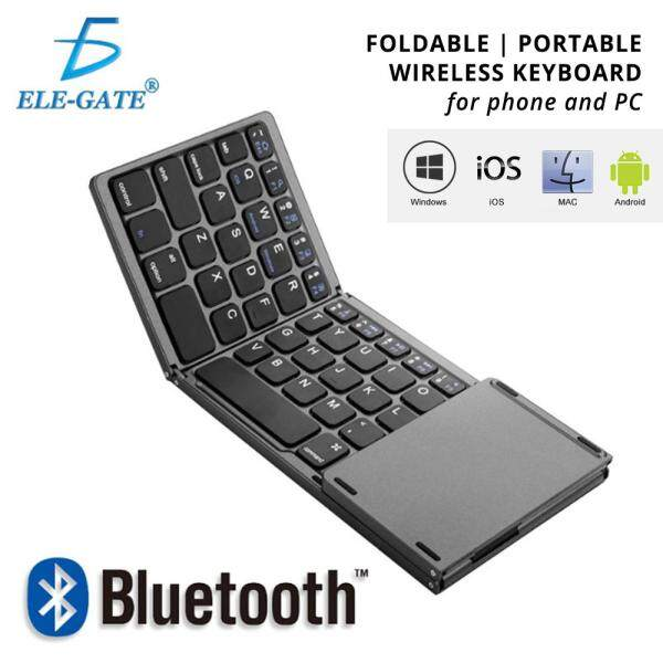 Foldable Bluetooth Keyboard QWERTY Touchpad USB Charging Portable Wireless for Phone Tablet Malaysia
