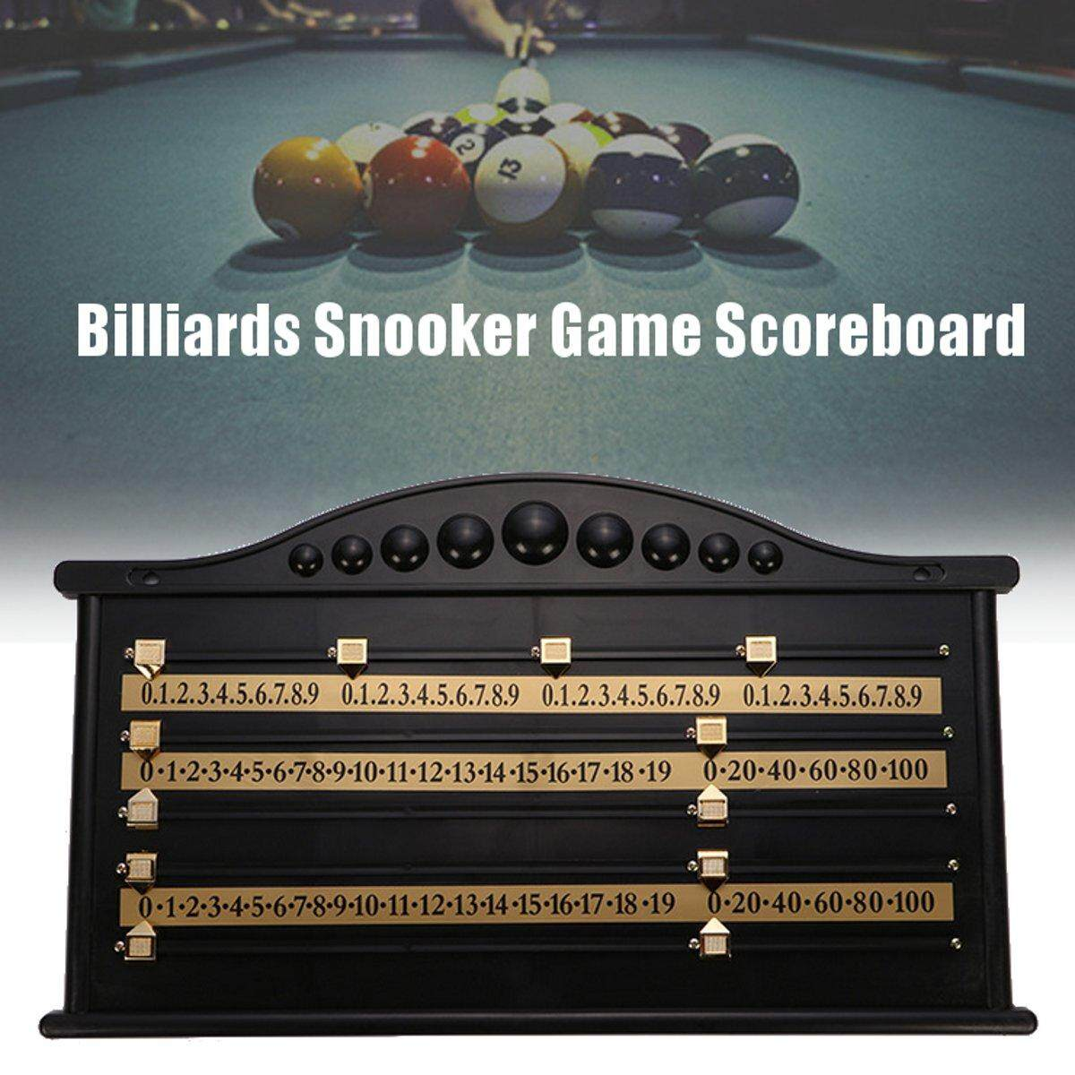 Plastic Billiards Scoreboard Snooker Game Scorer Board Player Calculation Number