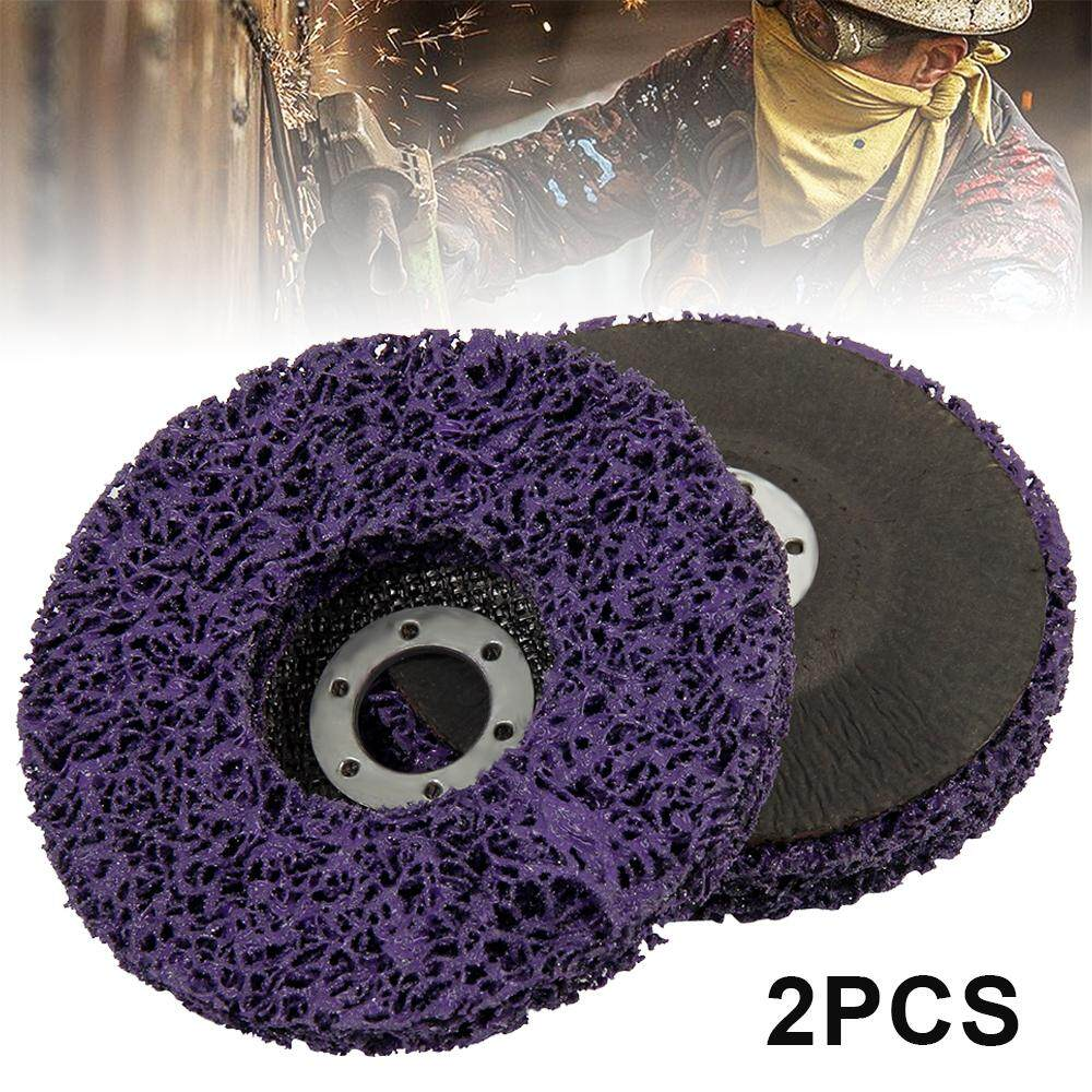 Grinder 125mm 2X Paint Polishing 5 Poly Strip Disc Wheel Paint Rust Removal Clean for Angle