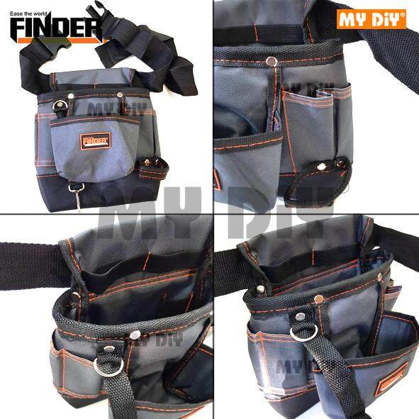MY DIY - Finder Tool Holder 8 Pocket Heavy-Duty double straps Storage Tool Bag Belt Pouch Plumber Adjustable Pocket Accessories Multi-Tool Organizer