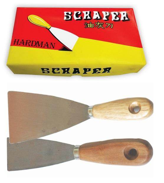 12PCS 2 inch China Scrapper Wood Handle