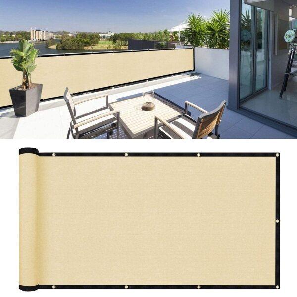 1M 1.5M 2M 3M 4M 5M 6M Sun Shade Outdoor Balcony Privacy Screen Fencing Sun Shade Net Outdoor Sun Shade Sail Awning