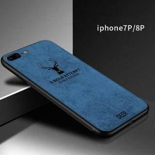 Zeallion Cho [Apple iPhone 5 5S 6 6S 7 8 Plus SE X XR XS 11 Pro Max] Ốp Lưng Họa Tiết Nai Sừng Tấm Dệt Vải Bạt Mềm Hình Hươu Cổ Điển thumbnail