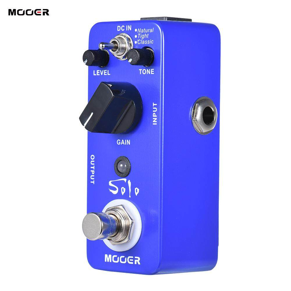 MOOER SOLO Distortion Guitar Effect Pedal High-gain True Bypass Full Metal  Shell