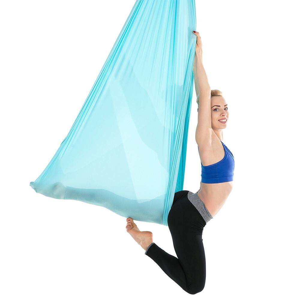 Anti-gravity Yoga Hammock 5m X 2.8m Aerial Yoga Flying Swing Durable Yoga Practicing Trapeze Resilient Inversion Exercise Strap Yoga