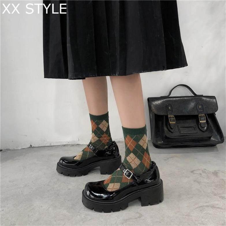 Giày Cao Gót Nữ Lucyever, Giày Da Bóng, Phong Cách Cổ Điển, Xuân Thu Mary Jane Khóa Dây Đeo giá rẻ