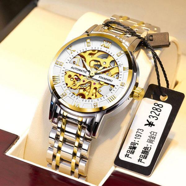 Swiss famous brand automatic mechanical watch male waterproof luminous hollow tourbillon trend mens mechanical watch Malaysia