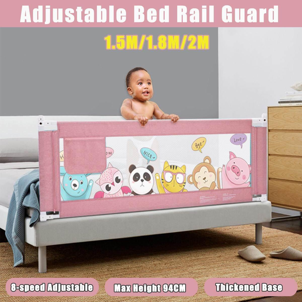 Giá Sốc Duy Nhất Hôm Nay Khi Mua 1.5M /1.8M /2M Pink Kids Sleeping Safety Bed Rail Guard Child Bedguard Toddler