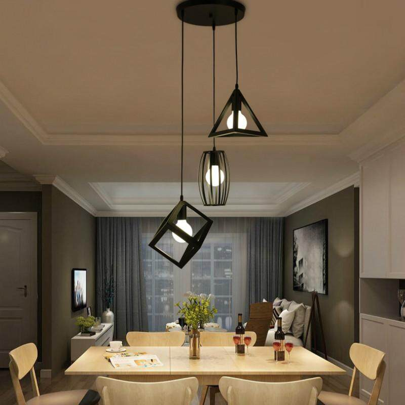 Ceiling Light 3 in 1 Round Base Decorative Pendant Light Nordic Lighting