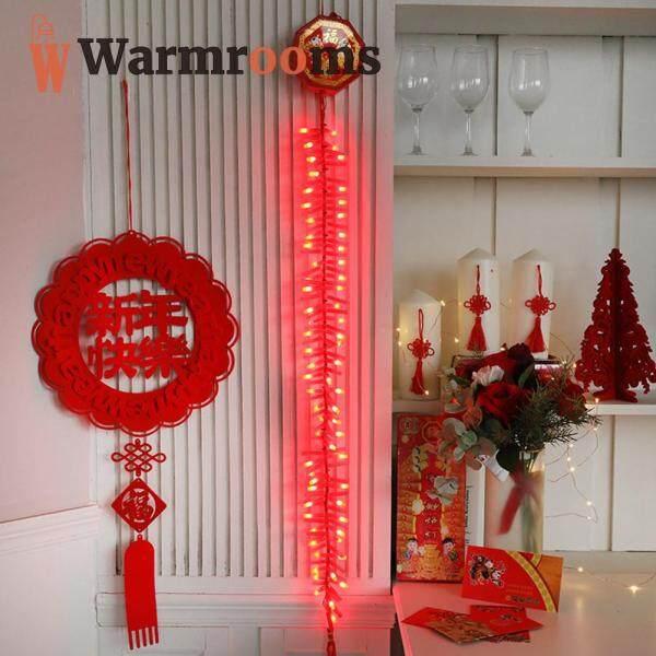 Đèn Dây LED AC220V Đèn Âm Thanh Pháo Điện Tử 92LED 1.35M Đồ Treo Năm Mới Trung Quốc
