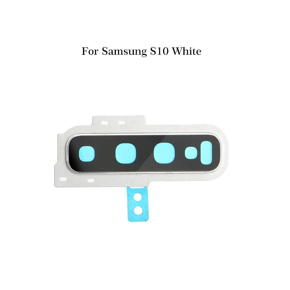 for Samsung Galaxy S10 S10 Plus New Back Camera Glass Lens Cover with Frame  Holder for Samsung S10+ Replacement Part Accessories