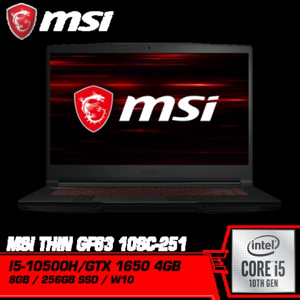 MSI GF63 Thin 10SC-251MY (Intel i5-10500H , GTX1650 GDDR6 4GB) Malaysia