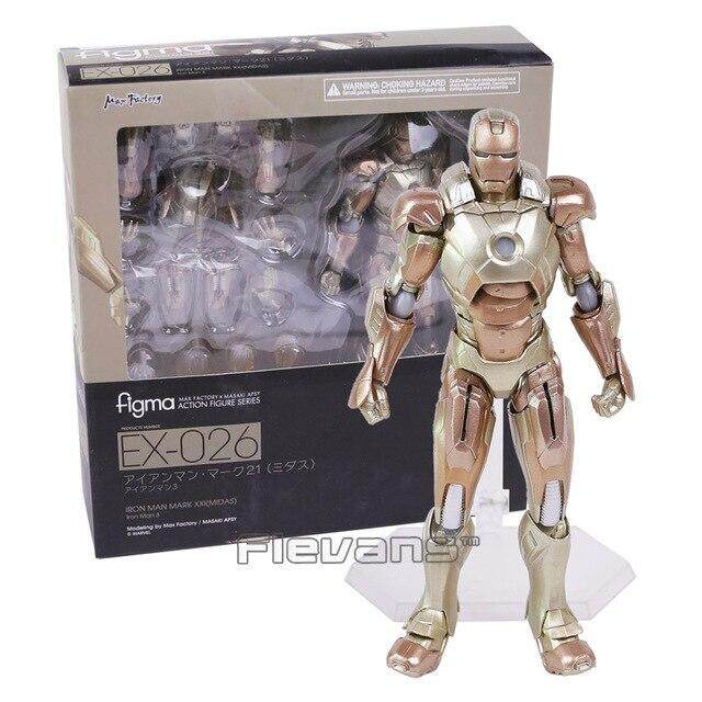 Figma 217 Iron Man Mark 7 The Avengers Marvel Anime Figure Model Toy Gift