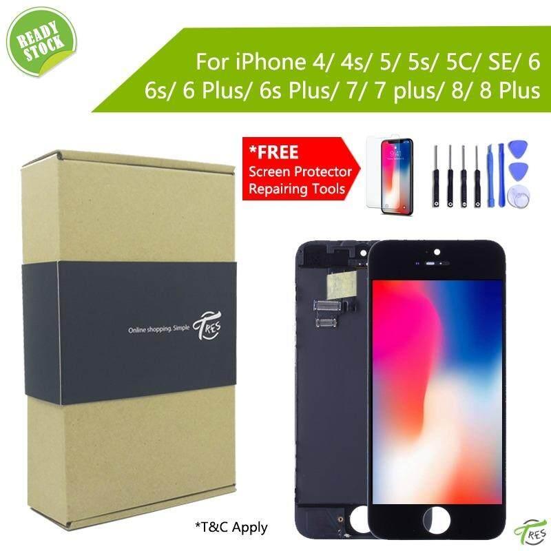 LCD Screen For iPhone 4 4S 5 5S 5C 6 6P 6S 6SP 7 7P 8 8Plus ( Free Tools )