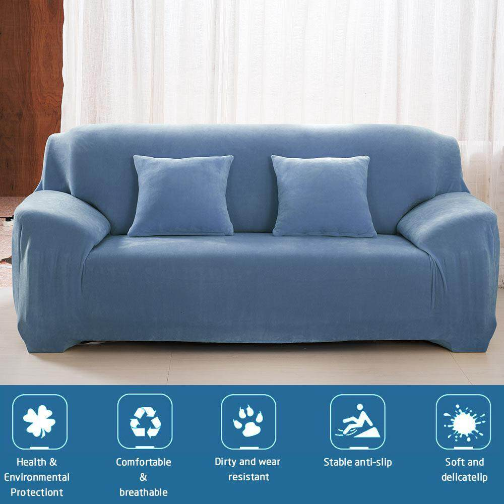 Womdee Three Seater Sofa Slipcover Stretch Protector Soft Couch Cover (195-230cm/3 Seater)