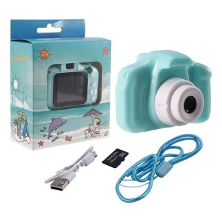 Kids Camera Digital Video Recorder Shockproof Action Camera with 2 Inch IPS Screen and 32GB Memory card, Gift for Girls and Boys, Green thumbnail