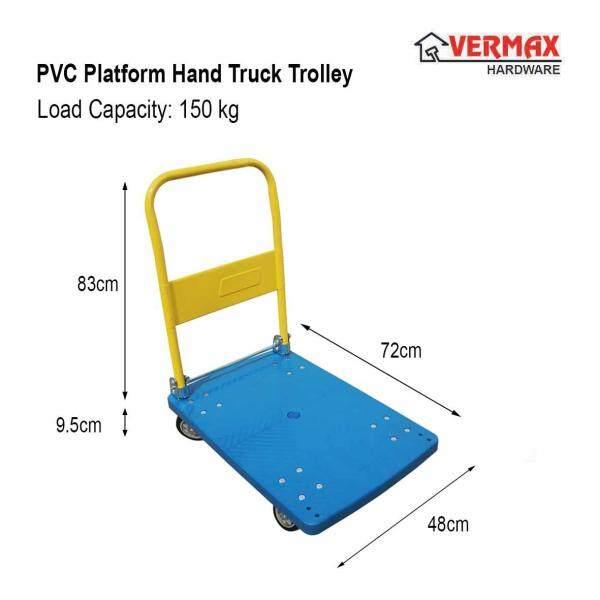 150kg PVC Platform Hand Truck Trolley Foldable / Troli Plastic PVC Heavy Duty