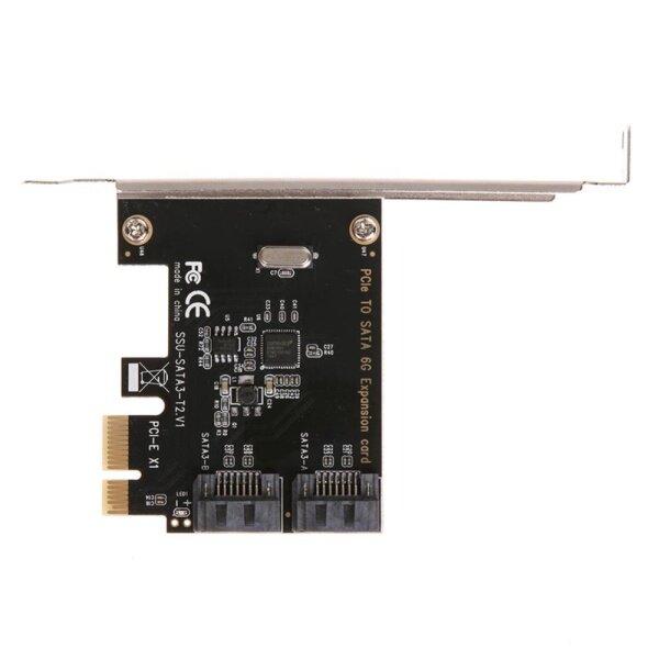 Bảng giá Card PCI-E To SATA 3.0 Nội Bộ 6Gbps Cổng Đĩa Thẻ Nhớ Mở Rộng Phong Vũ