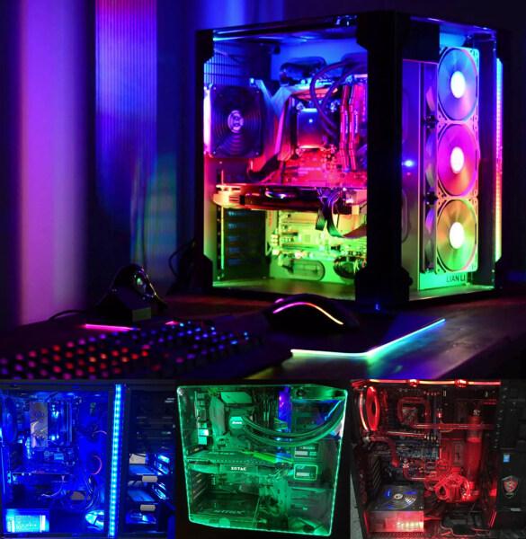 Bảng giá 2 Cái 30Cm 12V Led Strip RGB 4pin LED Headers Cho PC, Vỏ Máy Tính/RGB Strip Aura Sync Mainboard Bảng Điều Khiển RGB-Header, Chơi Game 5050 SMD LED Strip Ánh Sáng Phong Vũ