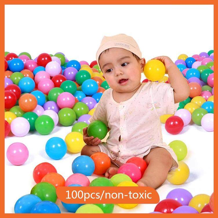 100pcs Toy Ball Colorful Ocean Wave Balls Pool Outdoors Baby Kids Soft Toys Swim