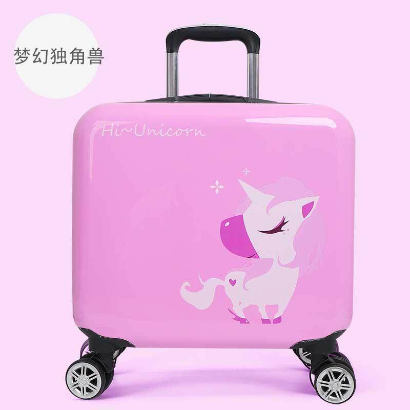 e3a6e335ad14 Cartoon Children universal wheel Rolling Luggage Spinner cute animal 16  Inch Boarding Box Student Travel Bag Boys girls Kid Suitcase
