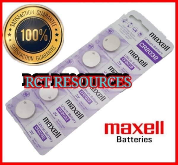 5pcs CR2032 GENUINE Maxell Japan Lithium Battery 3V Malaysia
