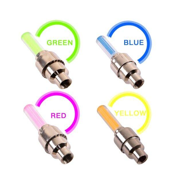 1Pcs LED Đèn Led Xe Đạp Bánh Lốp Xe Nắp Chụp Van Xe Đạp Van Đuôi Đèn Bánh Xe Ánh Sáng Cảnh Báo Đèn Xe Đạp phụ Kiện