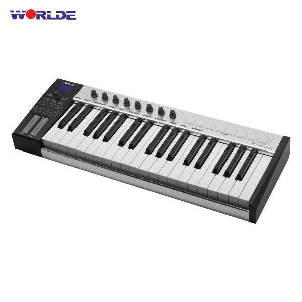 WORLDE Blue whale 37 Portable USB MIDI Controller Keyboard 8 RGB Backlit Trigger Pads with USB Cable black Malaysia
