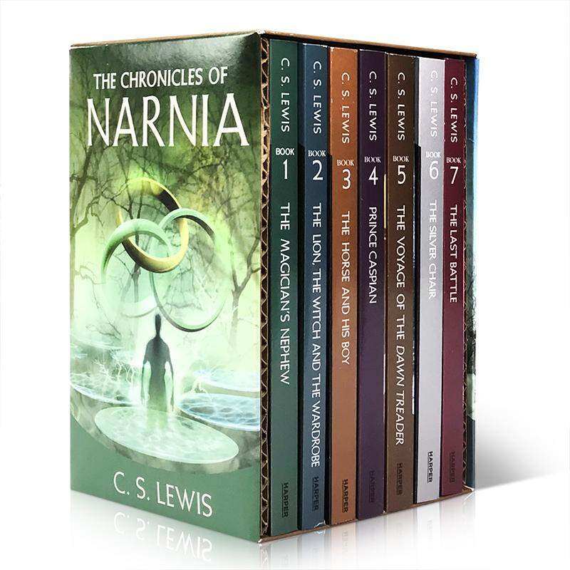7Pcs The Chronicles of Narnia 1-7 Corpora Original English Imported Young Adult Novel Lion, The Witch and The Wardrobe Books for 7-15 Year Olds