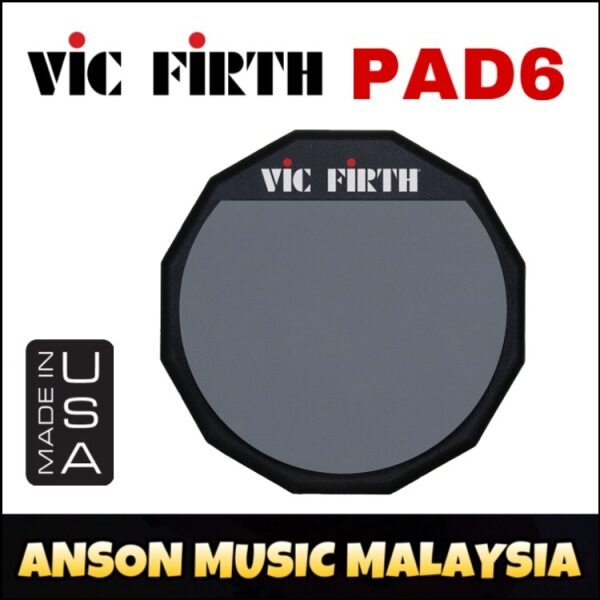 Vic Firth PAD6 Single Sided Practice Pad, 6-Inch Malaysia