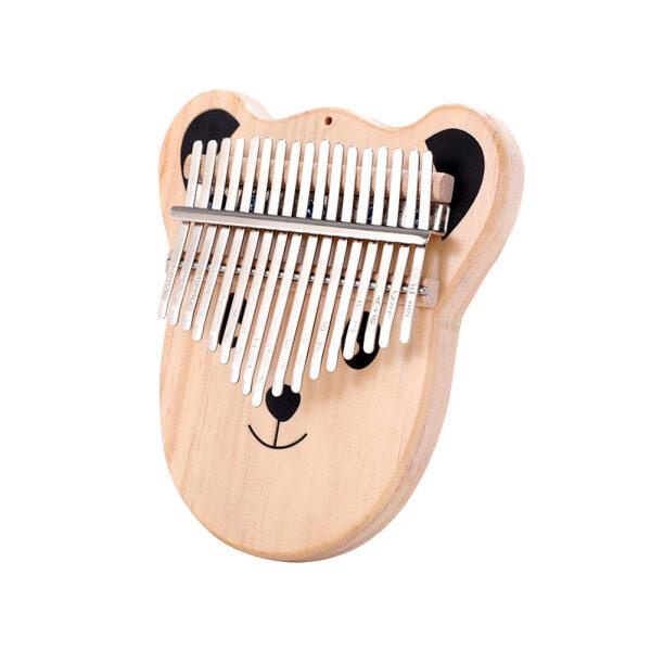 17 Phím Gỗ Thông Kalimba Phim Hoạt Hình Gấu Thumb Piano W/Chỉnh Búa