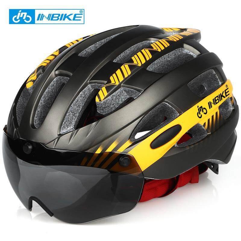 Mua INBIKE Mũ Bảo Hiểm Xe Đạp Xe Đạp Siêu Nhẹ Mũ Bảo Hiểm Người Đàn Ông Đường Núi Xe Đạp Leo Núi Cho Nữ Kính Chắn Gió Mũ Bảo Hiểm Xe Đạp MX-3