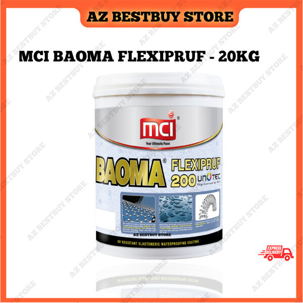 20KG MCI BAOMA FLEXIPRUF200 Waterproof Coating Paint for Exterior and Interior UV Resistance Slab Roof White Grey Waterproof Paint Outdoor