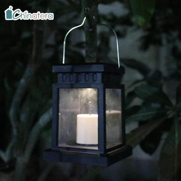 [Chinatera] Đèn LED Năng Lượng Mặt Trời, Đèn Nến Đèn Lồng Cổ Điển Trang Trí Treo Vườn Ngoài Trời Không Thấm Nước