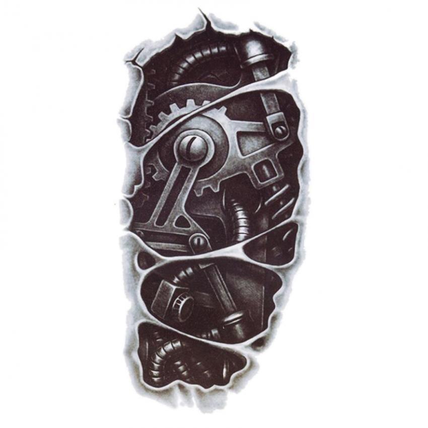 Fitur Totem Stiker Tattoo Besar Seni Tubuh Manusia 3d Naga Besar Source · Amango 3D Waterproof Robot Tato Sementara