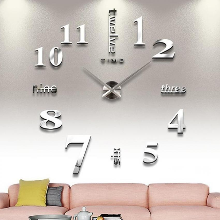 Where To Shop For Amart Diy Large Acrylic Mirror Wall Clock Living Room Fashion Clock