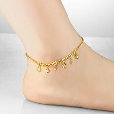Anklet Foot Jewelry Gold Anklet Bracelet Heart Leg Chain 18K Gold Plated Anklets for Women Bridal Foot Jewelry