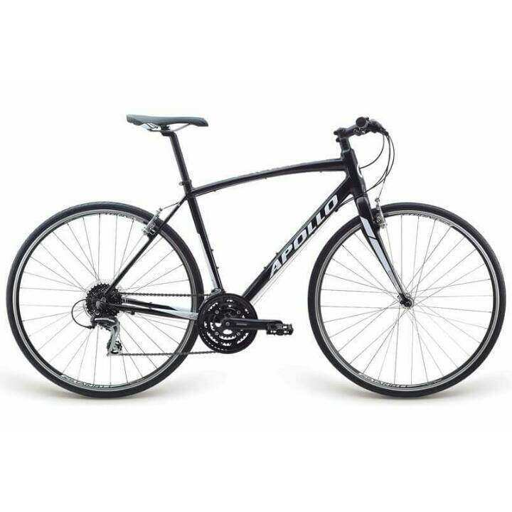 Apollo Exceed 20 Hybrid bike bicycle(Gloss Black / Gloss White)