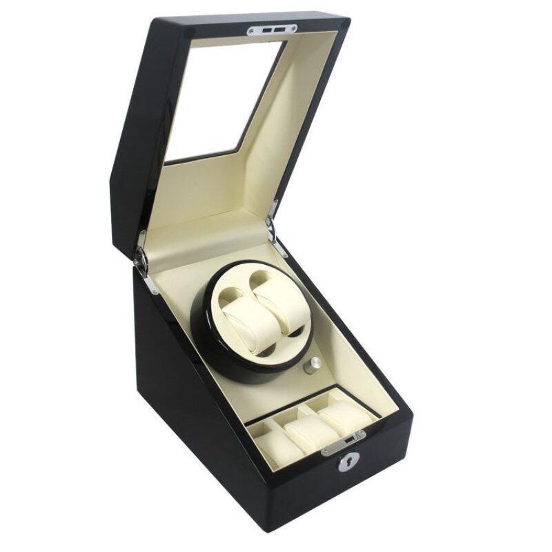 Auto Winder Watch Box 1 Winder 2+3 (Black White) Malaysia