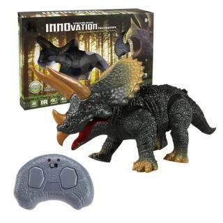 Đồ Chơi Điều Khiển Từ Xa Hồng Ngoại Chạy Điện Triceratops Tyrannosaurus Đồ Chơi, Đồ Chơi Khủng Long Phức Tạp, Bộ Điều Khiển Từ Xa Khủng Long thumbnail