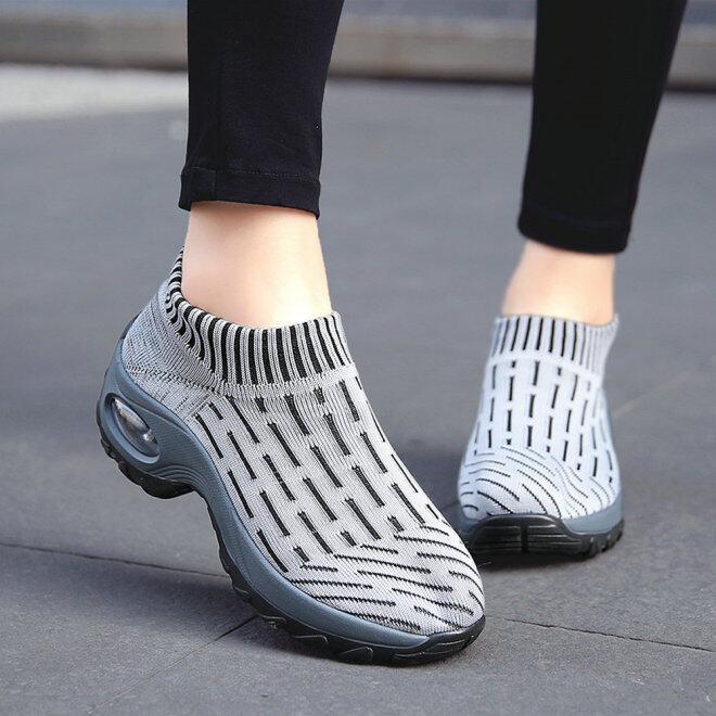 Của Phụ Nữ Thoải Mái Giày Chạy Nhẹ Giày Thể Thao Đi Bộ Giày Lưới Thoáng Khí Giản Dị Sneaker Giày Thể Thao Cho Phụ Nữ Kích Thước 35-42 AIRAVATA giá rẻ