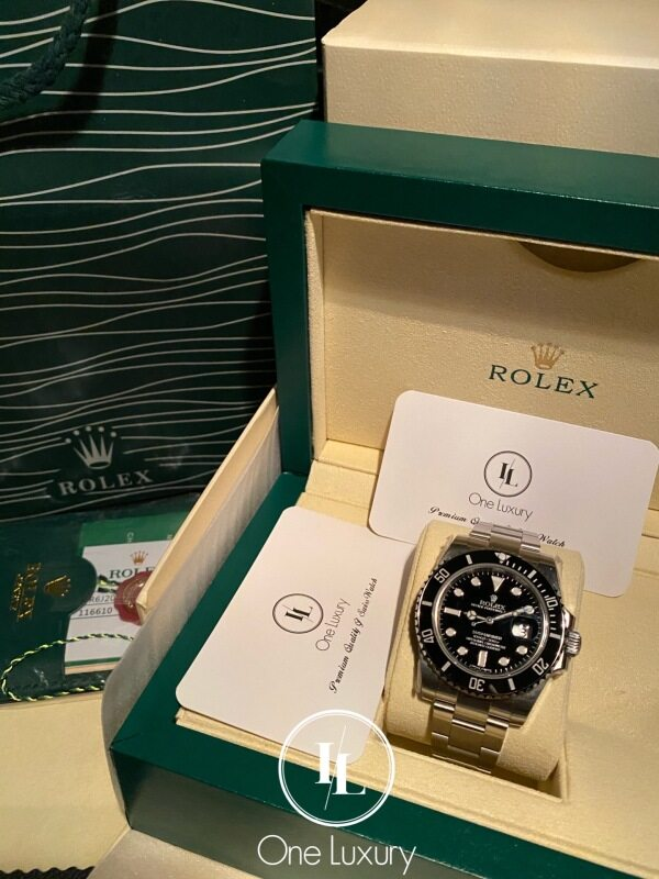 [ONE LUXURY] SUBMARINER WITH DATE BLACK DIAL ON 904L STAINLESS STEEL BRACELET CAL.3135 116610LN / 116610 黑水鬼 Malaysia