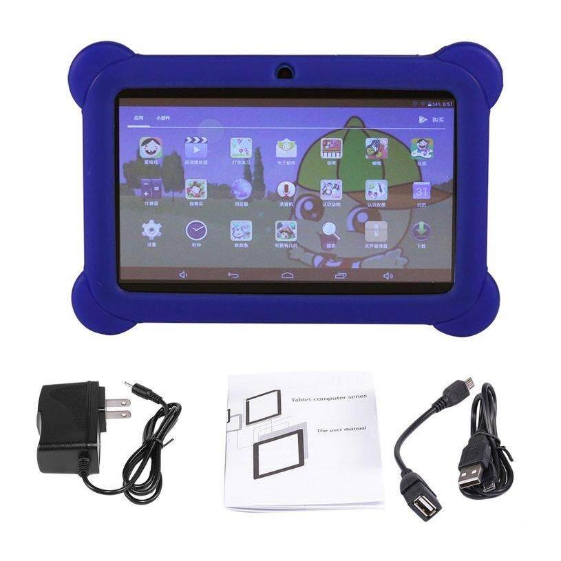 Xin 7 Inch Tablet Anak-anak Q88 512 MB + 4 GB A33 Quad Core 0.3MP Dual Kamera 1024*600 Wifi android 4.4 Komputer Tablet dengan Casing Silikon