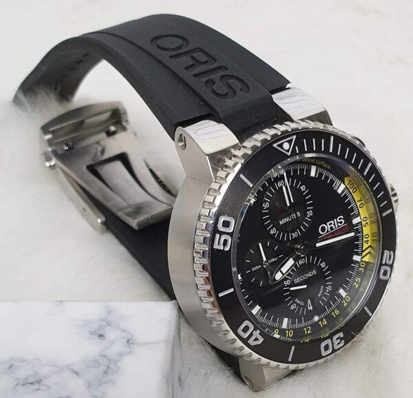 ORIS_Original_Rubber watch Swiss Hand Made For Men Full Set Batter Then Picture Look Malaysia